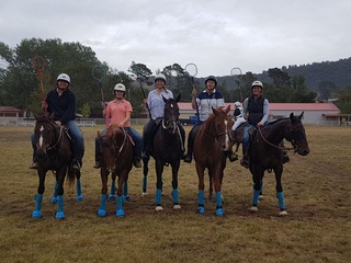 Blue Bandage Polocrosse Team photo